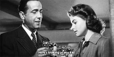 "Watch and share Humphrey Bogart And Ingrid Bergman In ""Casablanca"" (GIF) GIFs on Gfycat"