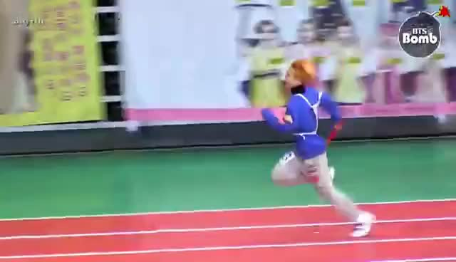 Watch and share [BANGTAN BOMB] BTS (방탄소년단) A 400-meter Relay Race @ 2016 설특집 아육대 GIFs on Gfycat