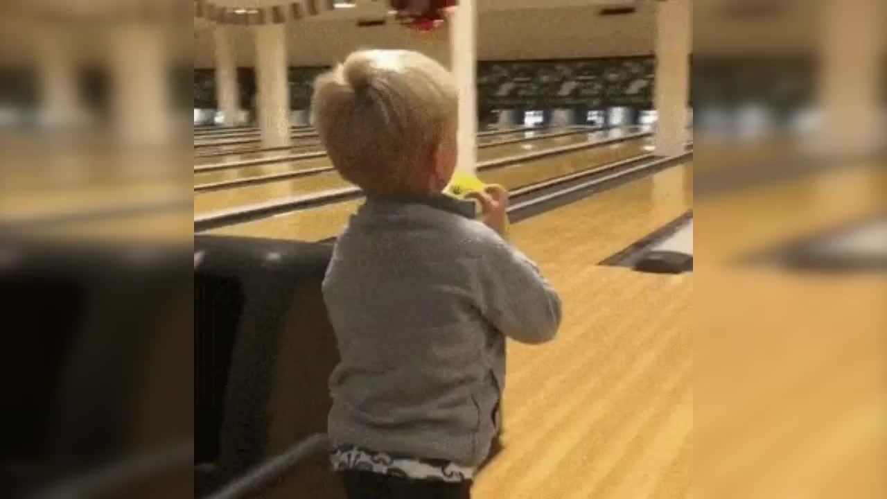 bowling, kid, nice shot, Kid Bowling GIFs