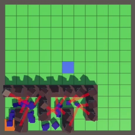 Watch and share Tower Defense Random Targeting GIFs by Catlike Coding on Gfycat