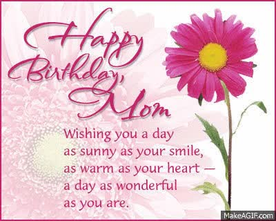 Watch and share Happy Birthday Mom animated stickers on Gfycat