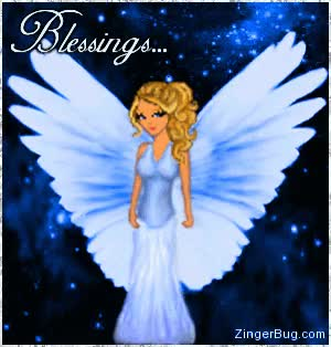 Watch blessings blue animae angel GIF on Gfycat. Discover more related GIFs on Gfycat