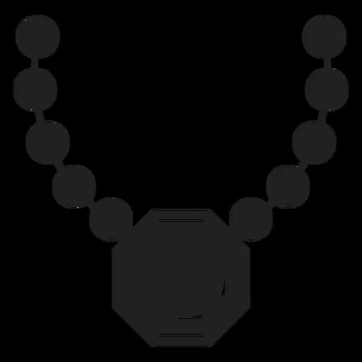 Watch and share B8d347de3071f471948043a7c8826614-bead-necklace-with-pendant-icon-by-vexels animated stickers on Gfycat