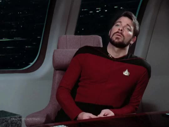 Watch this star trek GIF by Star Trek gifs (@star-trek-gifs) on Gfycat. Discover more commander riker, jonathan frakes, reaction, riker, star trek, star trek beyond, star trek enterprise, star trek into darkness, star trek nemesis, star trek the next generation, star trek voyager, the next generation, tng GIFs on Gfycat