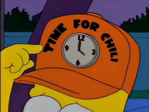 Watch this netflix and chill GIF by ioanna on Gfycat. Discover more chilax, chill, clock, hat, homer, hour, is, it, lazy, netflix, relax, siesta, simpsons, sleep, sunday, time, tired, what GIFs on Gfycat