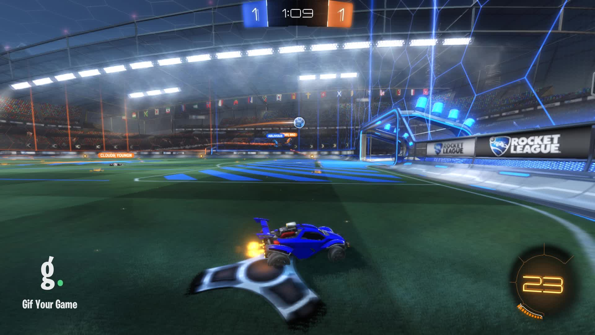 Gif Your Game, GifYourGame, Rocket League, RocketLeague, Twisted, Goal 3: Cloud9| Youngn GIFs