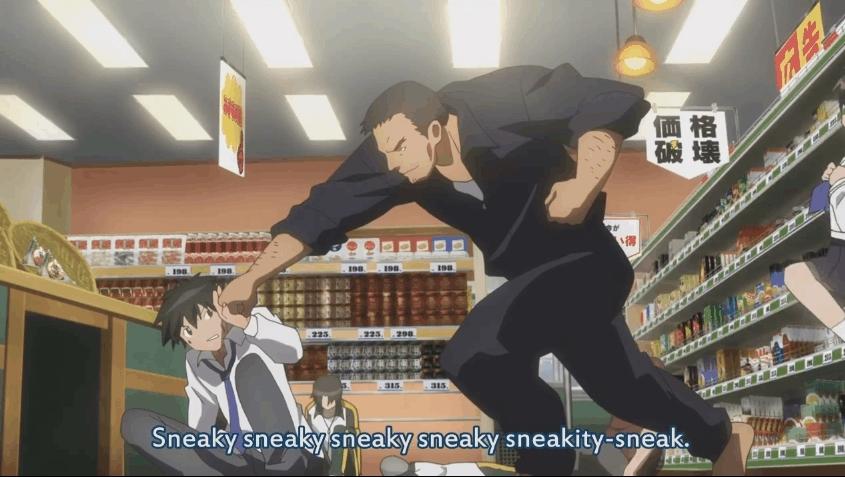 animegifs, animemegane, Sneaky GIFs