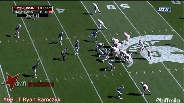 Watch Ryan Ramczyk (Wisconsin) vs. Michigan State (2016) GIF by @oriese on Gfycat. Discover more related GIFs on Gfycat