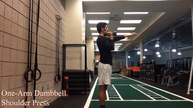 Watch and share One-Arm Dumbbell Shoulder Press GIFs by Deus Athletics on Gfycat