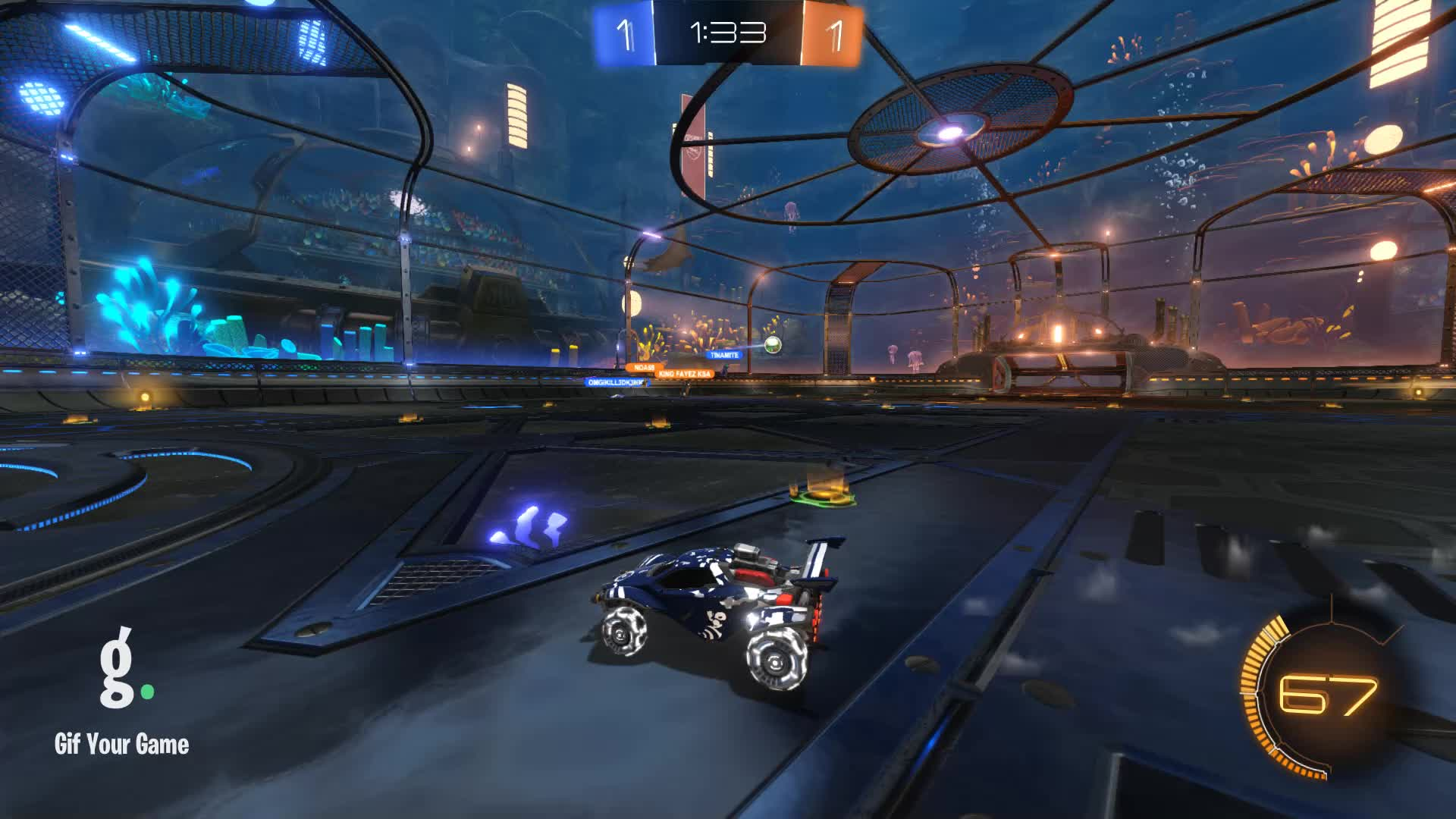 Gif Your Game, GifYourGame, Goal, Goldfish, Rocket League, RocketLeague, Goal 3: Goldfish GIFs