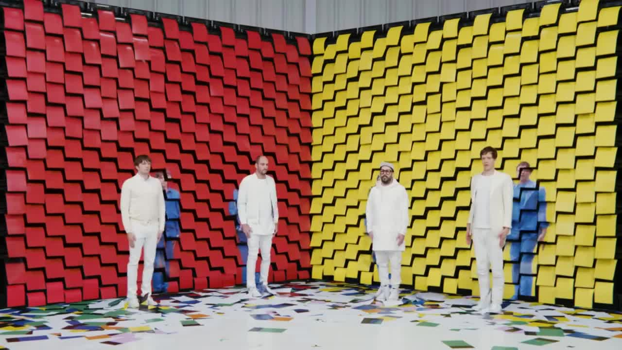 OK Go, concerts, greenpeace, live, music, obsession, official, paper, printer, video, Turns 3-1 GIFs