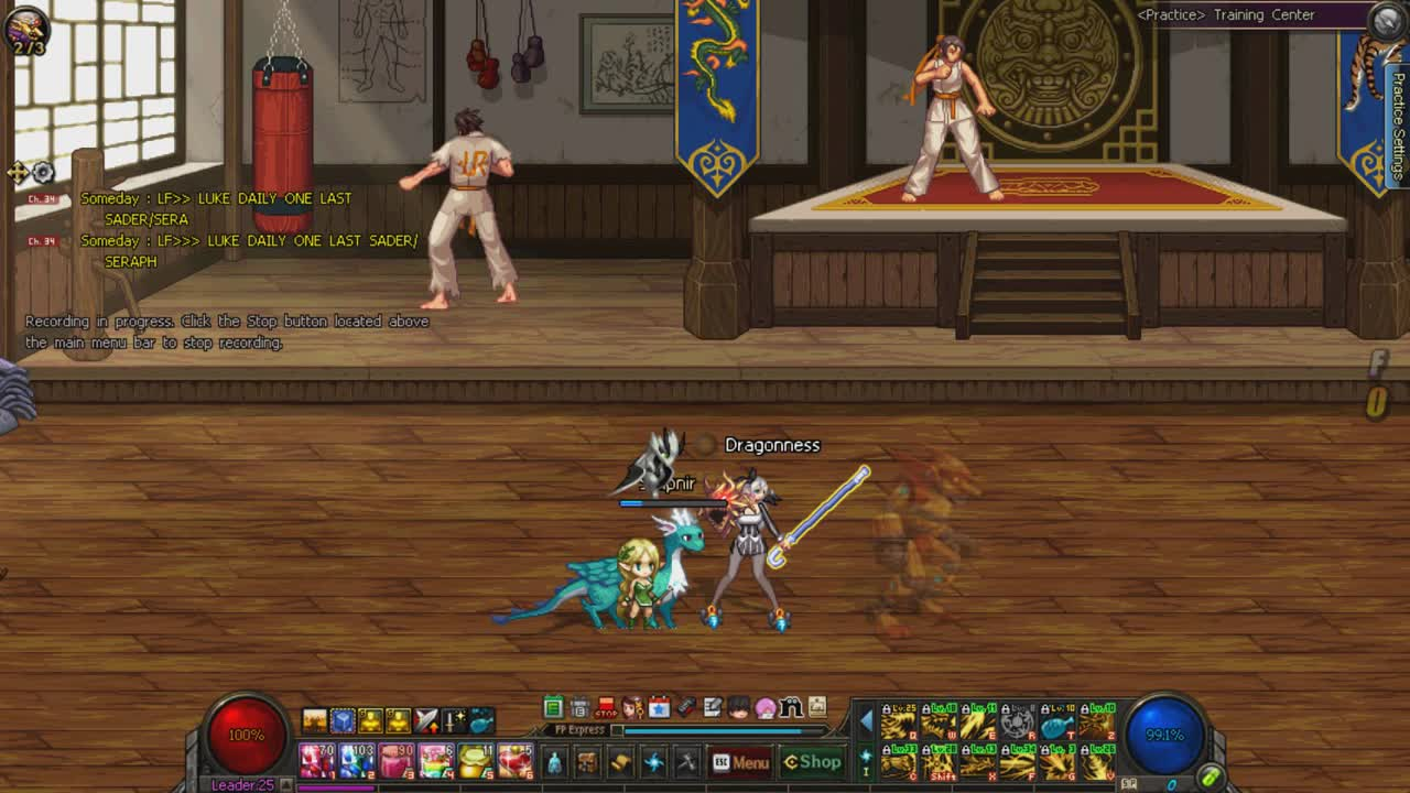 dfo, Dragon Knight Skill Showcase GIFs