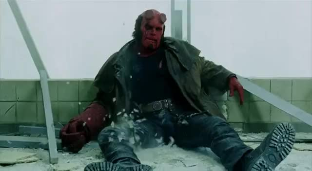 exhausted, hellboy, hellboy movie, tired, Hellboy Super Exhausted GIFs