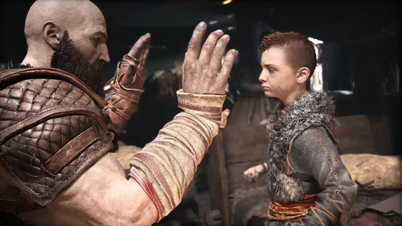 Kratos, Norse, atreus, fatherhood, freya, gow, God of War – Father and Son Trailer | PS4 GIFs