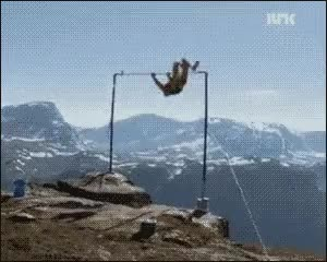 Guy flips his way off a cliff : nononono GIFs