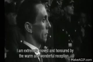 Watch and share Propaganda Minister Joseph Goebbels GIFs on Gfycat