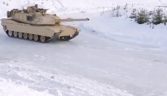 Watch and share M1A1 Tanks Drifting In Snow GIFs on Gfycat