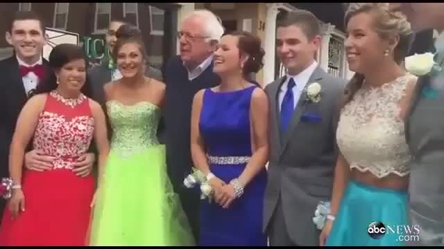 Watch Bernie Sanders Greets Students on Their Way to Prom ABC News GIF on Gfycat. Discover more enoughsandersspam, greets, sanders GIFs on Gfycat