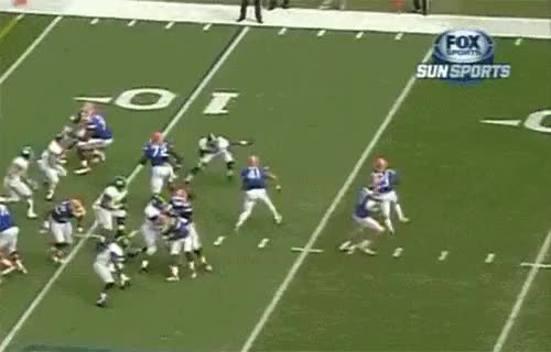 Watch and share Florida Players Block Each Other During Georgia Southern Game GIFs on Gfycat
