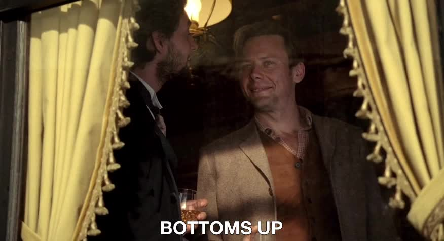 ben barnes, bottoms up, cheers, hbo, jimmi simpson, westworld, Bottoms up GIFs