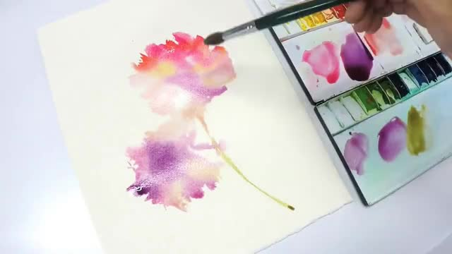 Watch and share [LVL3] Watercolor Flower Painting Wet Into Wet GIFs on Gfycat