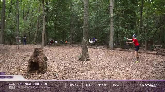 Watch 2018 Stafford Open | RD2, F9 | Fish, Barsby, Bell, Montgomery GIF on Gfycat. Discover more 2018, disc, disc golf, golf, innova, nation tour, pdga, profesional disc golf association, professional, sports GIFs on Gfycat