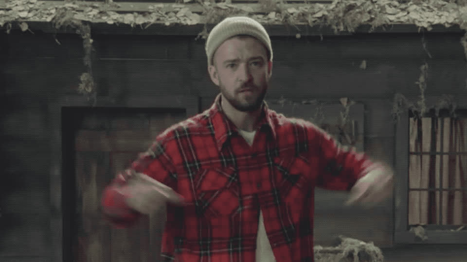 clip, fit, justin, justin timberlake, macho, man, muscles, new, of, song, strong, taugh, the woods, timberlake, video, wood, woodsman, Justin Timberlake - Man of the woods GIFs
