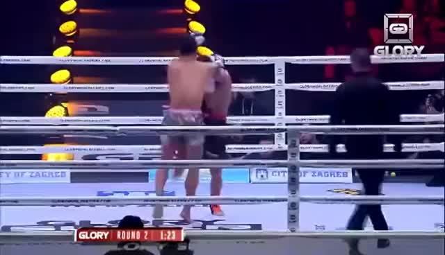 Glory TV   Zagreb SuperFight Series   Kraus vs Aikpracha GIFs