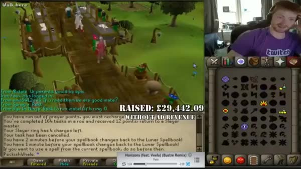 B0aty alching his B ring(i) after getting £25,000 for his charity stream. (reddit)