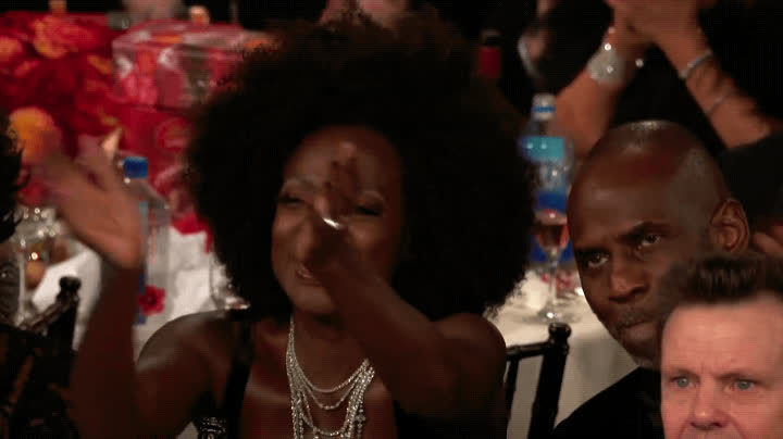 2018, applause, approval, cecil b de mille award, clapping, golden globes, happy, oprah, proud, supportive, viola davis, yas, yes, Viola Davis - Golden Globes 2018 GIFs