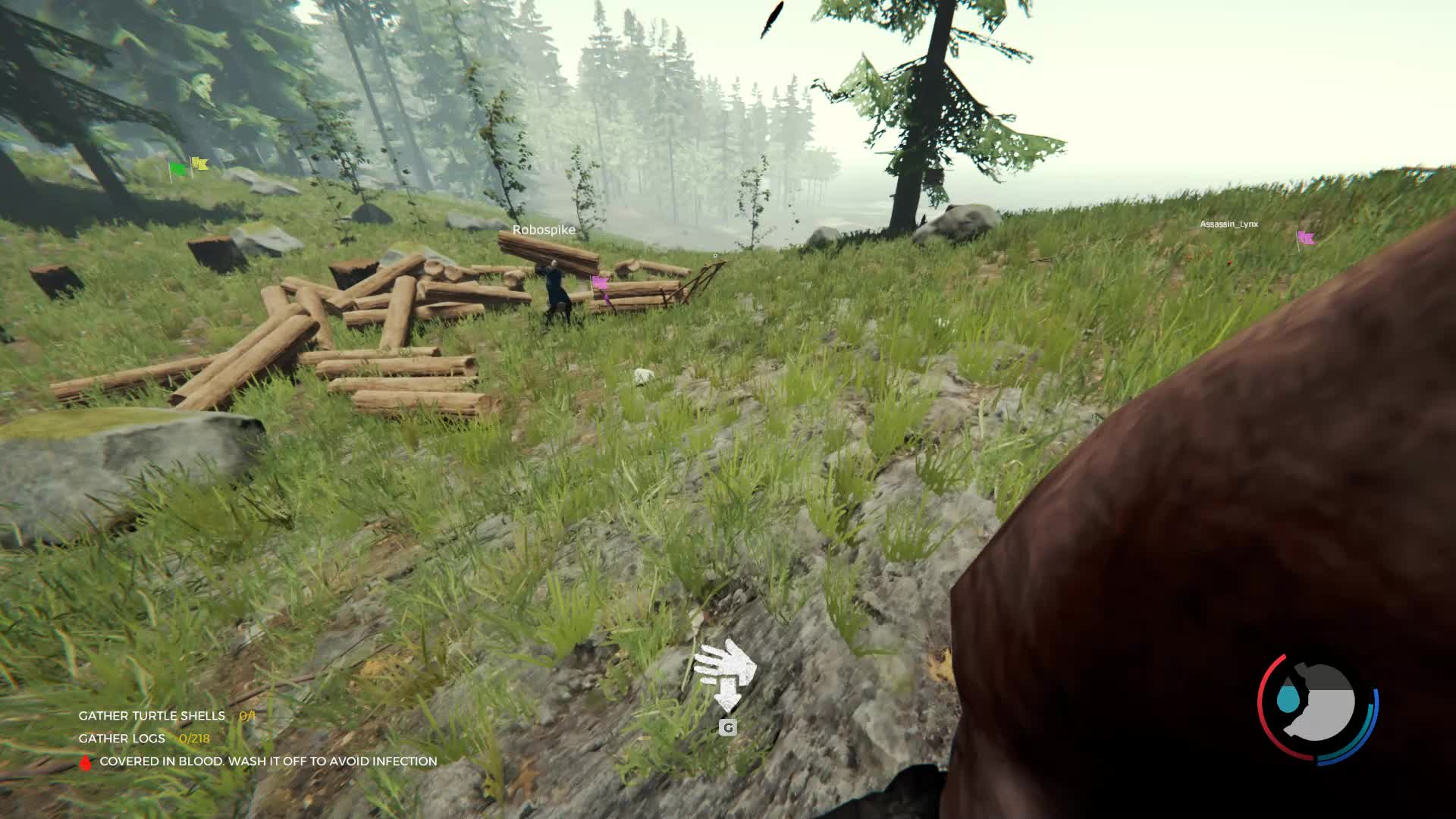 The Forest, Fuck outta here, log sled GIFs