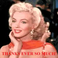 Watch and share Marilyn Monroe, Friendship, Friend, Thanks. Thank You GIFs on Gfycat