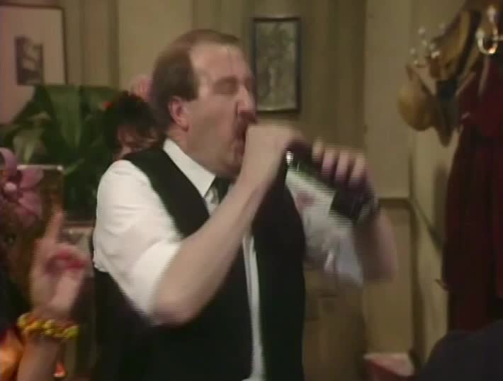 alcoholic, allo allo, gorden kaye, rene artois, stress, tenseful, tensions, under great stress, under stress, allo allo - drinking wine from bottle GIFs