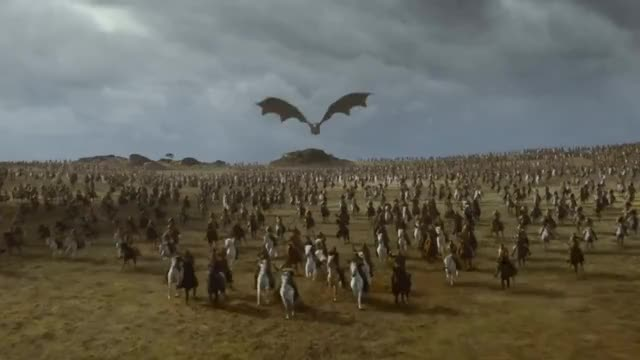 Watch Game of Thrones: Daenerys slaughters the Lannisters GIF on Gfycat. Discover more All Tags, Daenerys, Dothraki, Drogon, GOT7, Lannisters, bronn, dragon, s07e04 GIFs on Gfycat