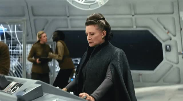 Watch and share Star Wars The Last Jedi GIFs and Carrie Fisher GIFs by Reactions on Gfycat