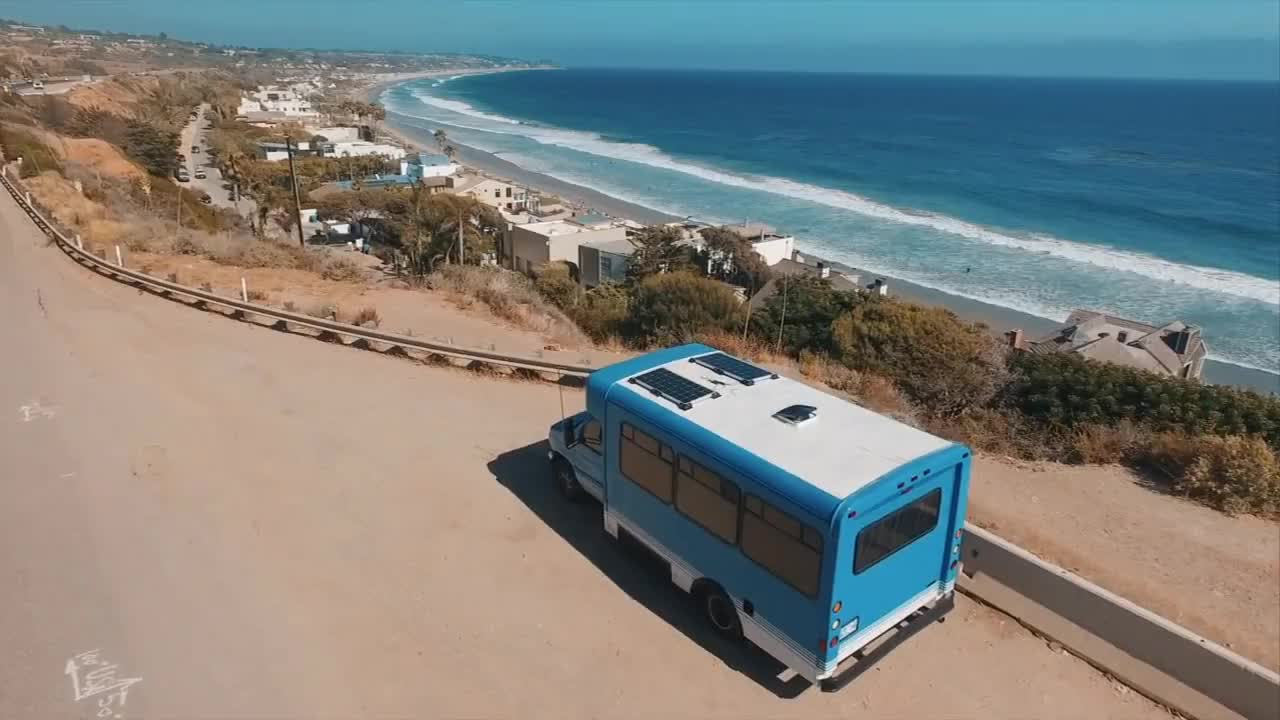 America, build, bus, camping, conversion, couple, essential, guide, skoolie, travelling, vlog, Bus Life: Where We Park For Free GIFs
