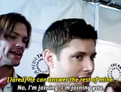 Watch and share Actor Jensen Ackles GIFs and Actor Padalecki GIFs on Gfycat