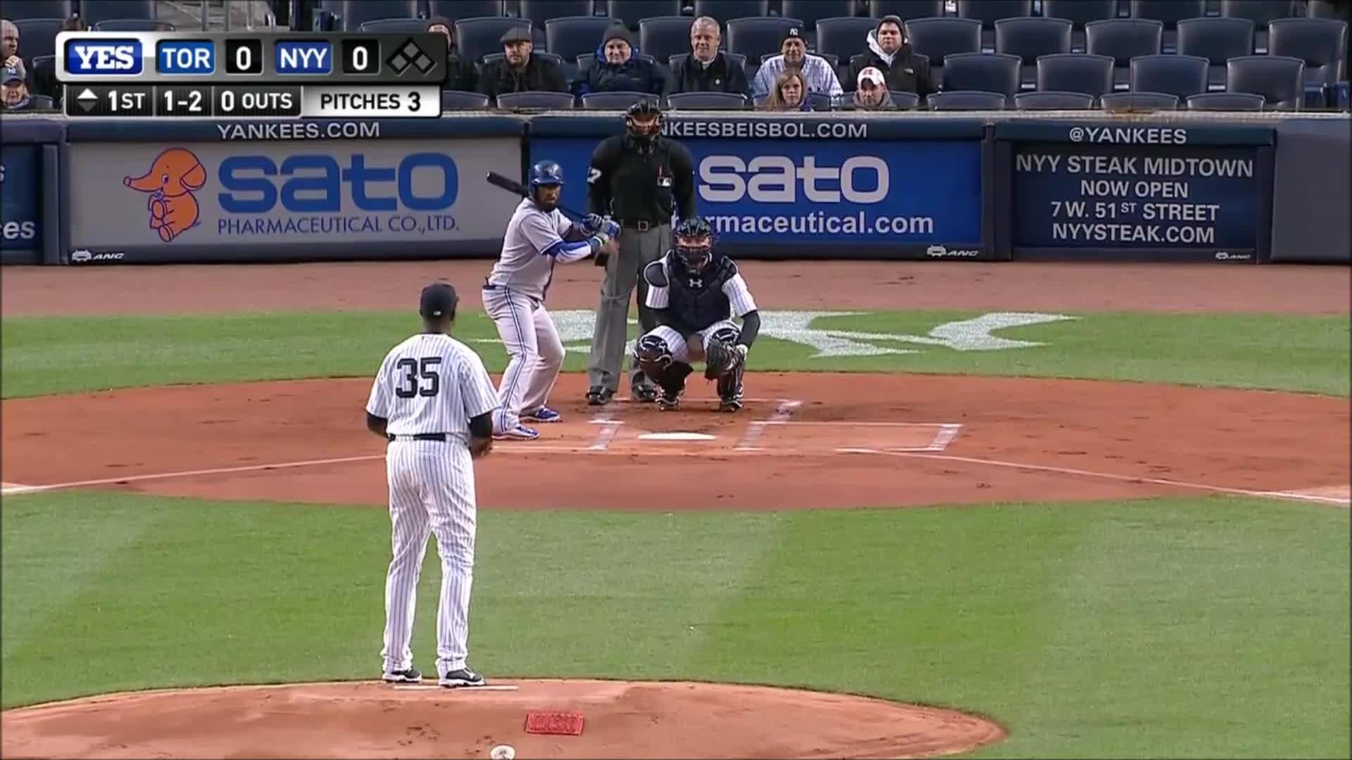 baseball, filthypitches, Michael Pineda Nasty Changeup on Jose Reyes (2015) GIFs
