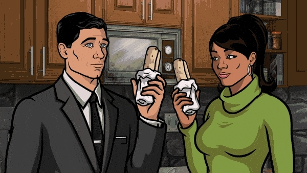ArcherFX, archerfx, burrito, food, Can we get a GIF of Archer and Lana's burrito sex? (reddit) GIFs