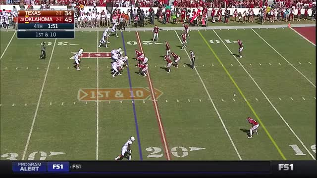Watch Texas Longhorns - Oklahoma Sooners  NCAAF 2016 / Week 06 / 08.10.2016 GIF on Gfycat. Discover more american football, oklahoma sooners, texas longhorns GIFs on Gfycat