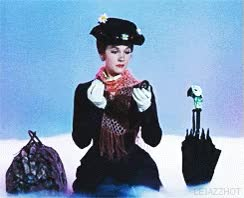 Watch and share Gif Film Vintage Mary Poppins Julie Andrews 1964 Julie* GIFs on Gfycat