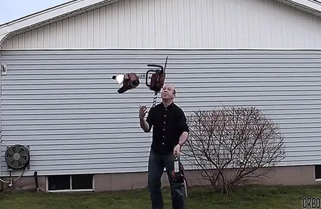 juggling, Chainsaw juggling GIFs