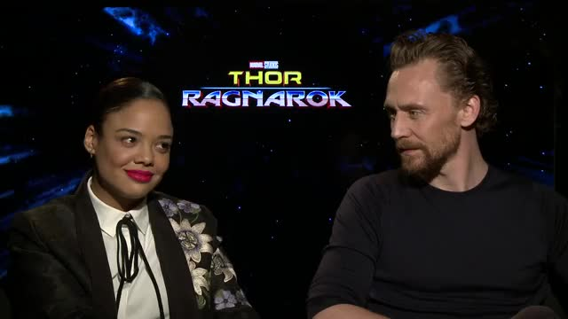 Watch and share Tessa Thompson GIFs and Tom Hiddleston GIFs by TheSunaTheBetta on Gfycat