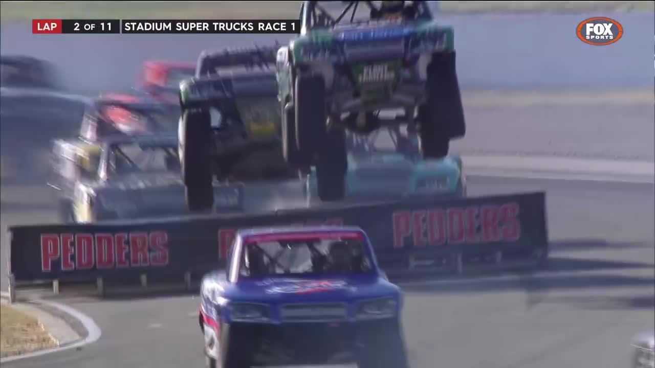 Stadium Super Trucks: Massive Roll at Perth GIFs