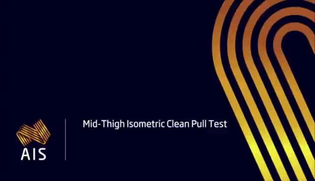 Demonstration of Isometric Mid-Thigh Pull - Australian Institute of Sport and Port Adelaide FC GIFs