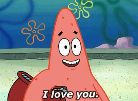 Spongebob, love, Patrick Star GIFs