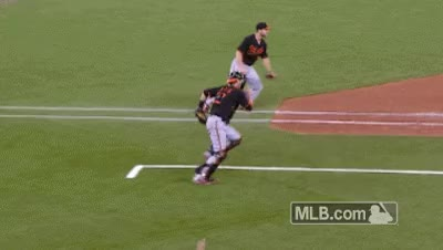 Watch and share Blue Jays Troy Tulowitzki Jumps Over Catcher GIFs on Gfycat