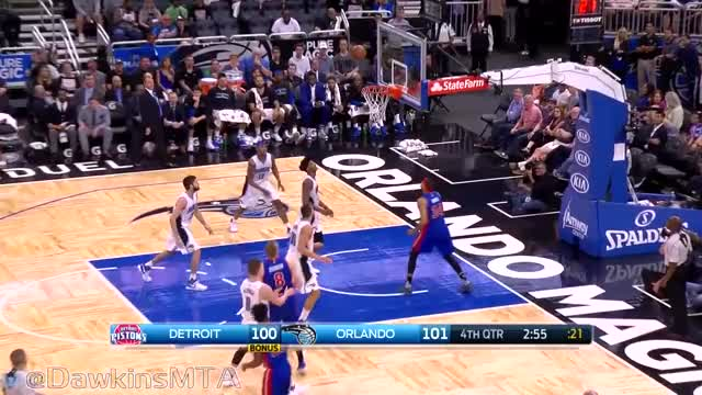 Watch Aaron Gordon Full Highlights 2017.04.12 vs Pistons - 32 Pts, 12 Rebs, 2 Blks! GIF by Razzball (@razzball) on Gfycat. Discover more related GIFs on Gfycat