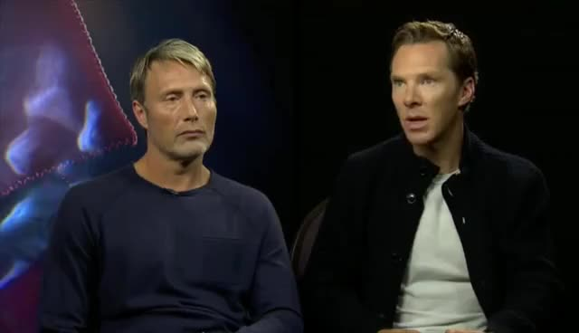 Watch and share FaceBook Interviews With Scott Derrickson, Mads Mikkelsen, And Benedict Cumberbatch GIFs on Gfycat