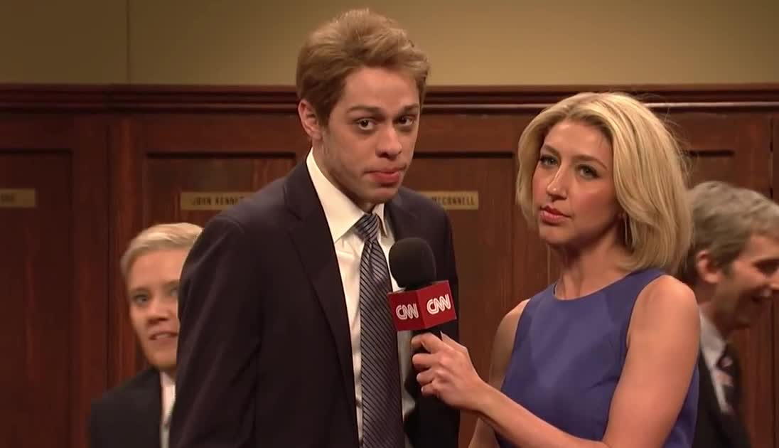 brett, cake, cold, epic, face, food, funny, game, hilarious, kavanaugh, live, lol, night, on, open, post, prank, saturday, snl, the, Brett Kavanaugh Post-Game Cold Open - SNL GIFs